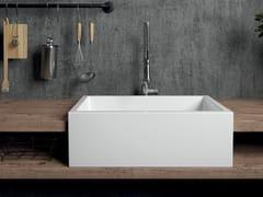 Lavello reversibile a spessore ceramico pienoFRAME | Lavello a semincasso - GALASSIA