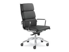 Sedia ufficio imbottita in pelleFLY 700 - LD SEATING