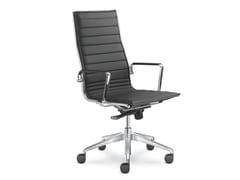 Sedia ufficio imbottita in pelleFLY 710 - LD SEATING