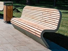 Punto Design, FLY | Panchina con schienale  Panchina con schienale