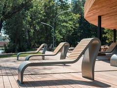 Seduta da esterni in acciaio e legnoFLY | Seduta da esterni in acciaio e legno - PUNTO DESIGN