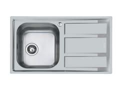 Lavello semi filo top in acciaio inox con gocciolatoioFM 1V.RV+SC. S/FT MARINE - FOSTER