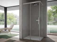 Box doccia rettangolare in vetro con porta scorrevoleFOCUS | Box doccia doppio scorrevole - DISENIA