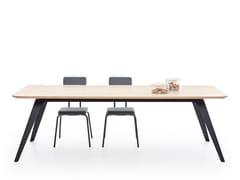 Tavolo da pranzo in legno masselloFOLD - PUIK