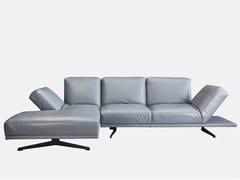 Divano in pelle a 3 posti con chaise longueFOLD | Divano con chaise longue - GRADO DESIGN FURNITURES
