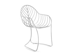 Sedia da giardino in acciaio inox con braccioliFOLIA | Sedia - ROYAL BOTANIA