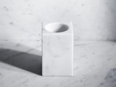 Portaspazzolino da appoggio in marmo FONTANE BIANCHE | Portaspazzolino - Fontane Bianche
