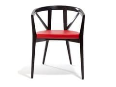 Sedia in pelle con braccioliFOREST | Sedia con cuscino integrato - BLIFASE