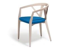 Sedia in faggio con cuscino integratoFOREST | Sedia con braccioli - BLIFASE