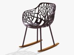 Sedia a dondolo in alluminio con braccioliFOREST | Sedia a dondolo - FAST
