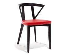 Sedia in faggio con cuscino integratoFOREST | Sedia con schienale aperto - BLIFASE