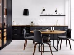 Cucina lineare in legno massello FORM 12 - BLACK OAK -