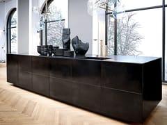 Cucina in acciaio FORM 45 - BLACK OXIDISED STEEL -