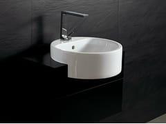 Lavabo a semincasso rotondo in ceramica FORM 46 ROUND | Lavabo a semincasso - Form