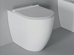 Wc in ceramica a pavimento FORM SQUARE | Wc a pavimento - ALICE CERAMICA