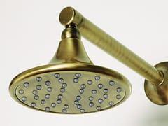 tender rain, FORMAE Soffione doccia a muro in ottone in stile vintage con braccio con sistema anticalcare