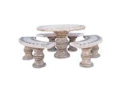 Seduta e tavolo in pietra ricostrutitaFORMENTERA - BONFANTE