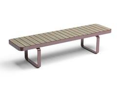 Panchina in acciaio e legno senza schienale FORUM | Panchina senza schienale - Forum