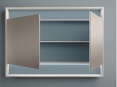 Specchio rettangolare con contenitore da pareteFOUNT | Specchio - MOBIL CRAB
