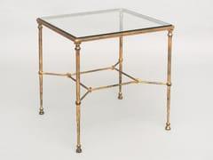 Tavolino alto quadrato da salotto in ferro e cristalloFOUR | Tavolino quadrato - OFFICINACIANI DI CATERINA CIANI & CO.