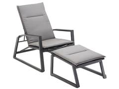 Sedia a sdraio reclinabile in tessuto con poggiapiediFOXX | Sedia a sdraio - SOLPURI