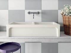 Lavello reversibile doppia vasca a spessore ceramico pienoFRAME | Lavello da appoggio - GALASSIA