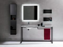 Consolle in acciaio verniciato e lavabo in opaliteFRAME | Mobile lavabo - ARTELINEA