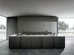 Cucina a scomparsa lineare in rovere con isolaFRAME BLADE   Cucina - MODULNOVA