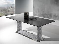 Tavolo con base in Crystal Stone® e top in cristalloFRAME - BALLARINI