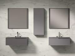 Mobile lavabo sospeso con cassettiFRAME - FIORA