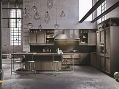 Cucina con isola senza maniglie FRAME | Cucina componibile - ICONE