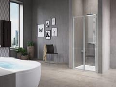 Box doccia a nicchia con porta a soffiettoFREE 1 | 2 P (VERSIONE ALTA) - NOVELLINI