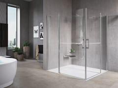Box doccia angolare con porta a battenteFREE 1 | A - NOVELLINI