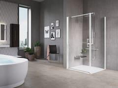 Box doccia angolare con porta a battenteFREE 1 | G+F - NOVELLINI