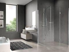 Box doccia angolare con porta a soffiettoFREE 3 | 2AS - NOVELLINI