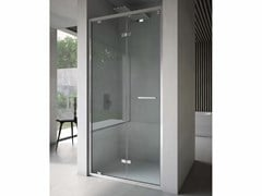 Box doccia a nicchia in vetro con porta a soffiettoFREE | Nicchia - Porta a soffietto - DISENIA