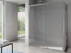 Box doccia angolare in vetro con porta a battenteFREE | Angolare a battente apertura lato - DISENIA