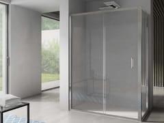 Box doccia angolare in vetro con porta scorrevoleFREE | Angolare - Porta scorrevole - DISENIA
