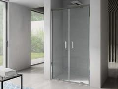 Box doccia a nicchia rettangolare con porta a battenteFREE | Nicchia - Porta a doppio battente - DISENIA