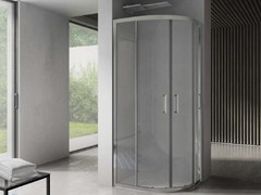 Box doccia angolare semicircolare con porta scorrevoleFREE | Box doccia semicircolare - DISENIA