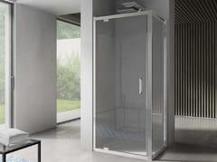 Box doccia angolare in vetro con porta a battenteFREE | Angolare - Porta a battente - DISENIA