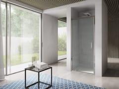 Box doccia a nicchia in vetro con porta a battente FREE | Box doccia a nicchia - Free