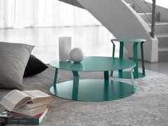 Tavolino rotondo in metallo da salotto per contract FREELINE 2 -
