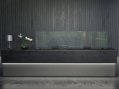 Pannello divisorio da scrivania in cristalloFRIEND - GLAS ITALIA
