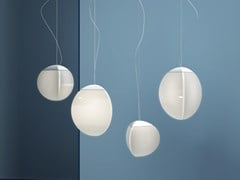 Lampada a sospensione a LED in vetroFRUITFULL - FABBIAN