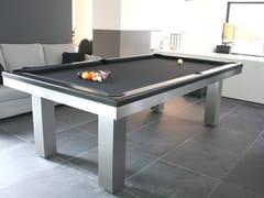 Tavolo da biliardo rettangolare in acciaio inox e legnoFULL LOFT - BILLARDS TOULET