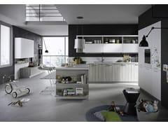 Cucina componibile con maniglie integrate con penisola FUN | Cucina con penisola - EVERYONE