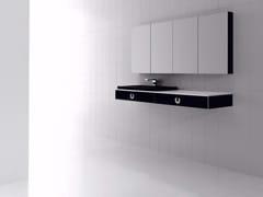 Mobile lavabo sospeso con cassetti e con specchio FUSSION PLANO 01 - Fussion