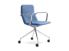 Sedia ufficio girevole in tessuto con braccioliFlexi CHL-BR- F75 - LD SEATING