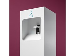 Totem igienizzante in metalloDispenser gel a pedale - PLANNING SISPLAMO